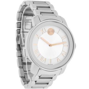 Movado bold stainless steel and rose gold